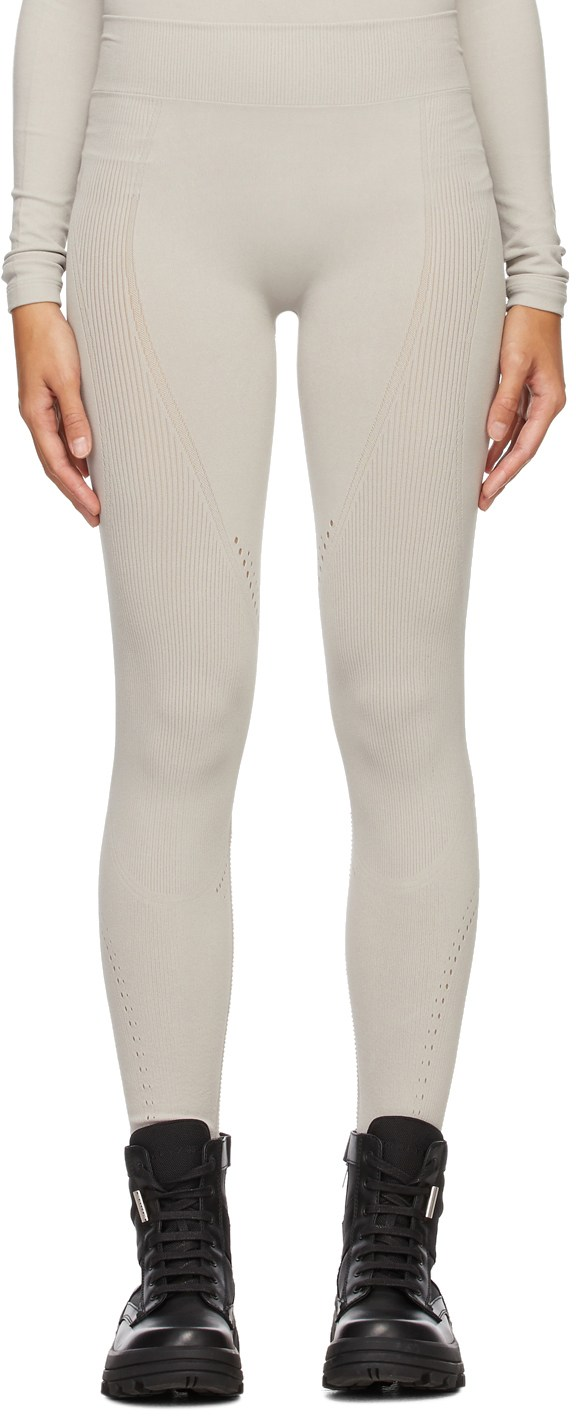 6 Moncler 1017 Alyx 9SM Grey ECONYL® Ribbed Leggings by Moncler, available on ssense.com for $535 Kylie Jenner Pants Exact Product