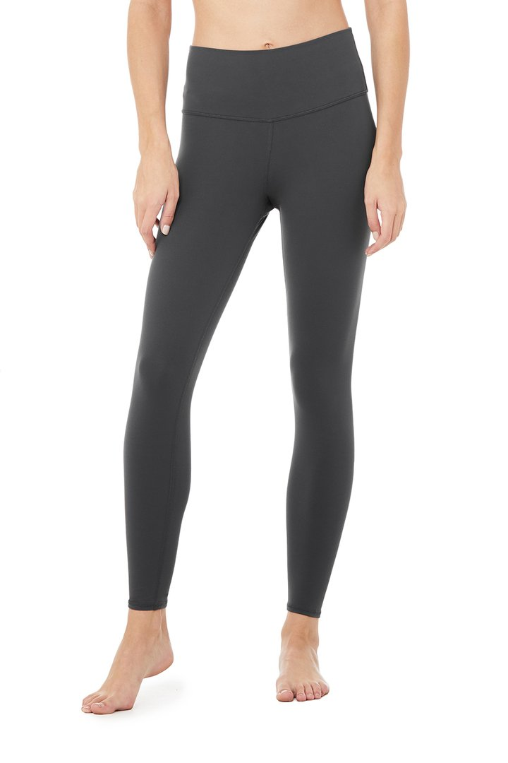 7/8 High-Waist Airbrush Legging - Anthracite by Alo Yoga, available on aloyoga.com for $78 Kylie Jenner Pants SIMILAR PRODUCT