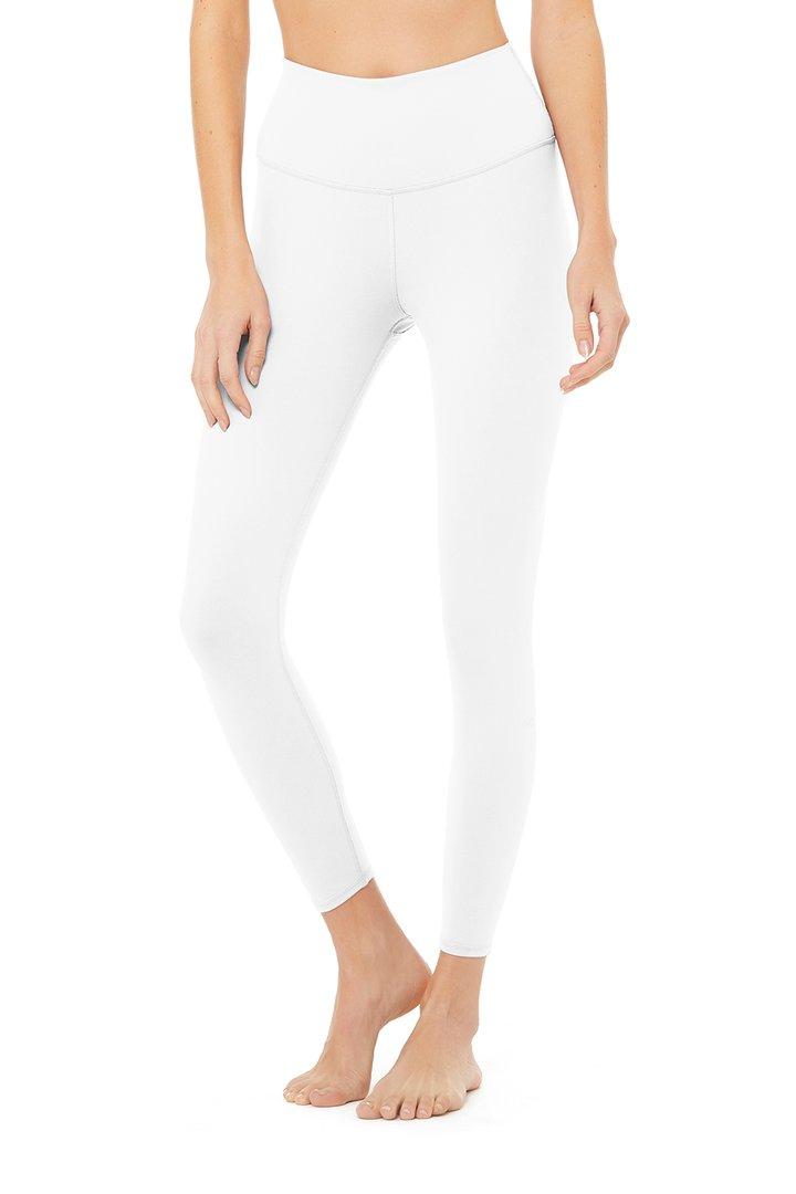 7/8 High-Waist Airbrush Legging - White by Alo Yoga, available on aloyoga.com for $78 Kylie Jenner Pants SIMILAR PRODUCT