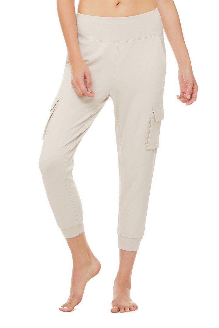 7/8 High-Waist Cargo Sweatpant - Bone by Alo Yoga, available on aloyoga.com for $98 Kylie Jenner Pants SIMILAR PRODUCT