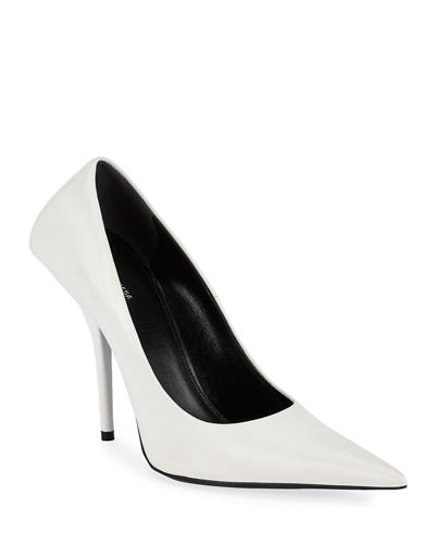 80mm Square-Back Lambskin Knife Pumps by Balenciaga, available on neimanmarcus.com for $795 Kylie Jenner Shoes Exact Product