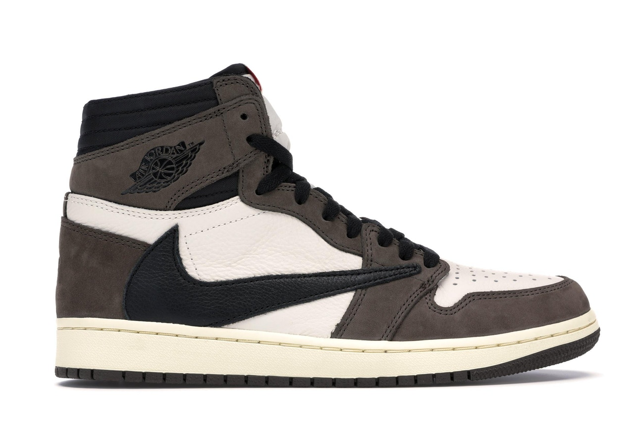 Air Jordan 1 Retro Travis Scott Sneakers by Nike, available on stockx.com for $1605 Kylie Jenner Shoes Exact Product