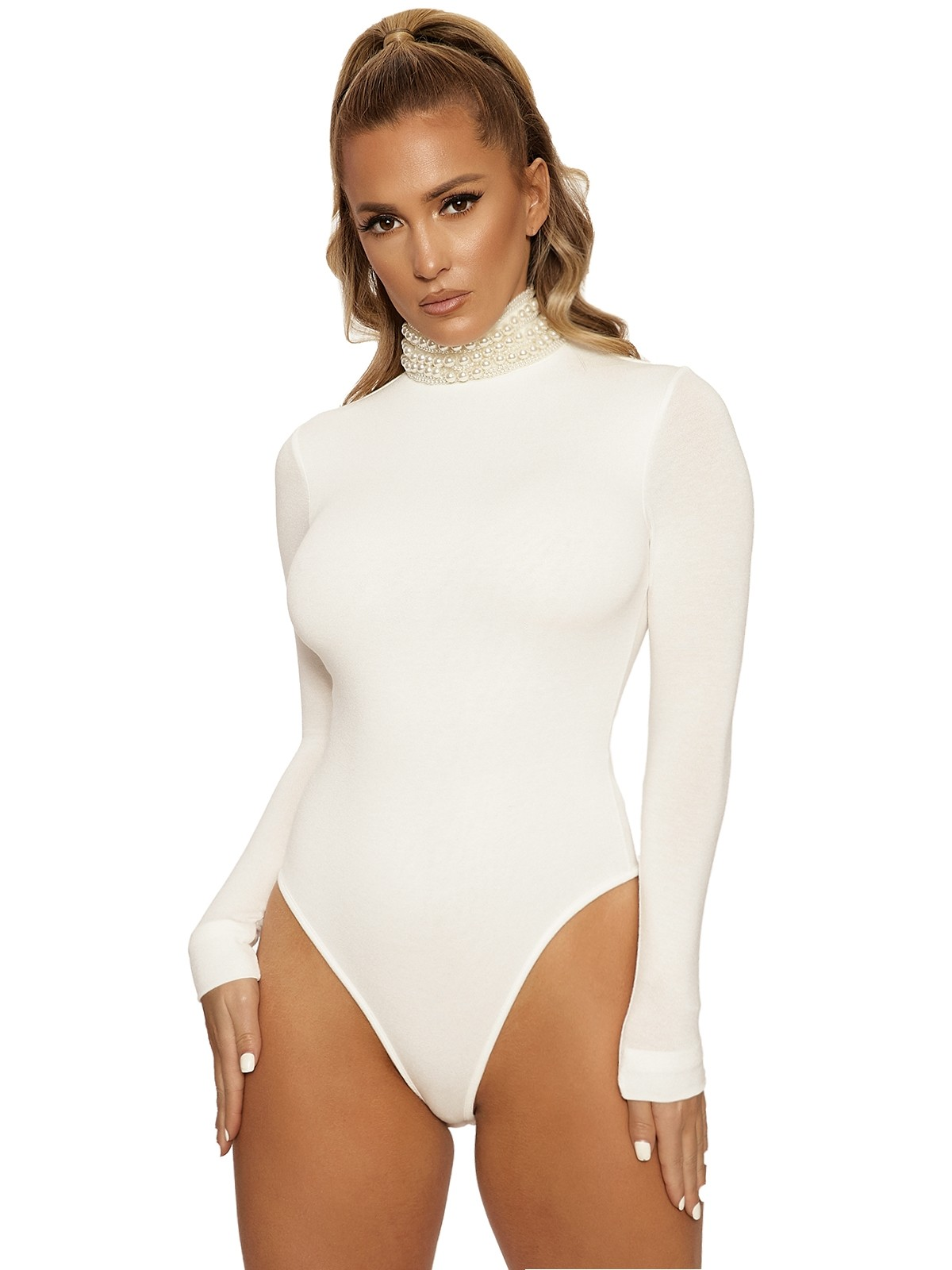 All Pearl'd Up Bodysuit by Naked Wardrobe, available on nakedwardrobe.com for $25 Kylie Jenner Top SIMILAR PRODUCT