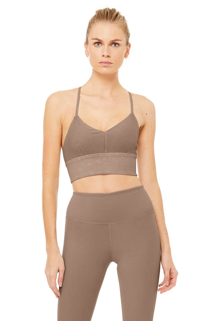 Alo Sueded Lavish Bra by Alo Yoga, available on aloyoga.com for $54 Kylie Jenner Top SIMILAR PRODUCT