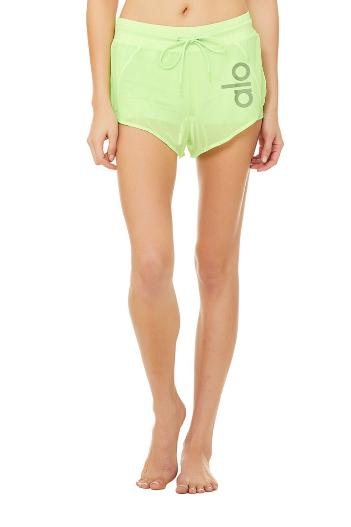 Ambience Short - Neon Lime by Alo Yoga, available on aloyoga.com for $72 Kylie Jenner Shorts SIMILAR PRODUCT