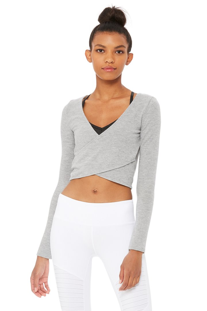 Amelia Luxe Long Sleeve Crop by Alo Yoga, available on aloyoga.com for $68 Kylie Jenner Outerwear SIMILAR PRODUCT