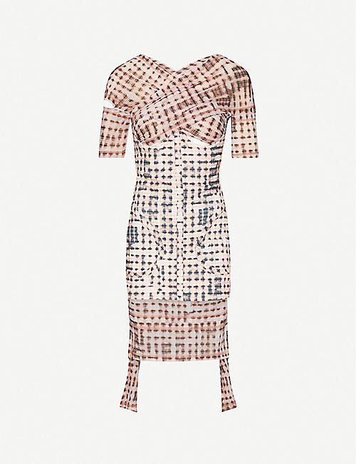 Anti checked stretch-woven mini dress by CHARLOTTE KNOWLES, available on selfridges.com for £925 Kylie Jenner Top SIMILAR PRODUCT