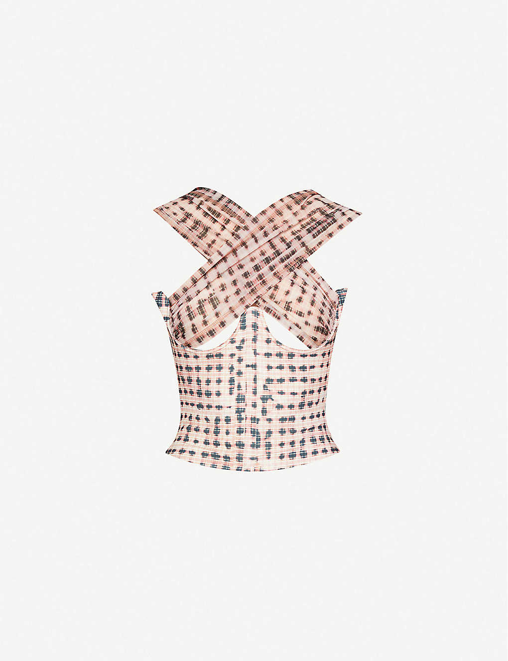 Anti checked stretch-woven top by Charlotte-Knowles, available on selfridges.com for EUR475 Kylie Jenner Top Exact Product