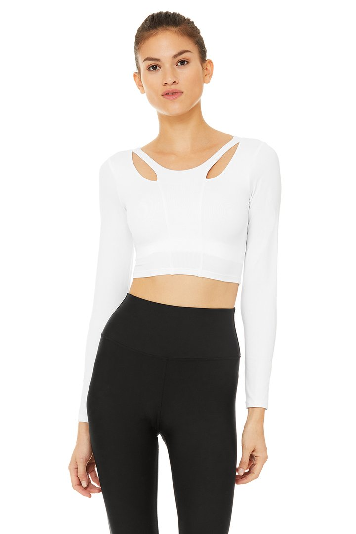 Arch Long Sleeve Top by Alo Yoga, available on aloyoga.com for $88 Kylie Jenner Outerwear SIMILAR PRODUCT