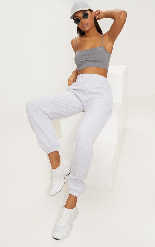 Ash Grey Casual Jogger by Pretty Little Thing, available on prettylittlething.com for $18 Kylie Jenner Pants SIMILAR PRODUCT