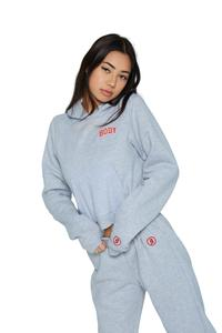 BACKSHOT HOODIE - GREY/RED, available on bodybyraventracy.com for 55 Kylie Jenner Top SIMILAR PRODUCT