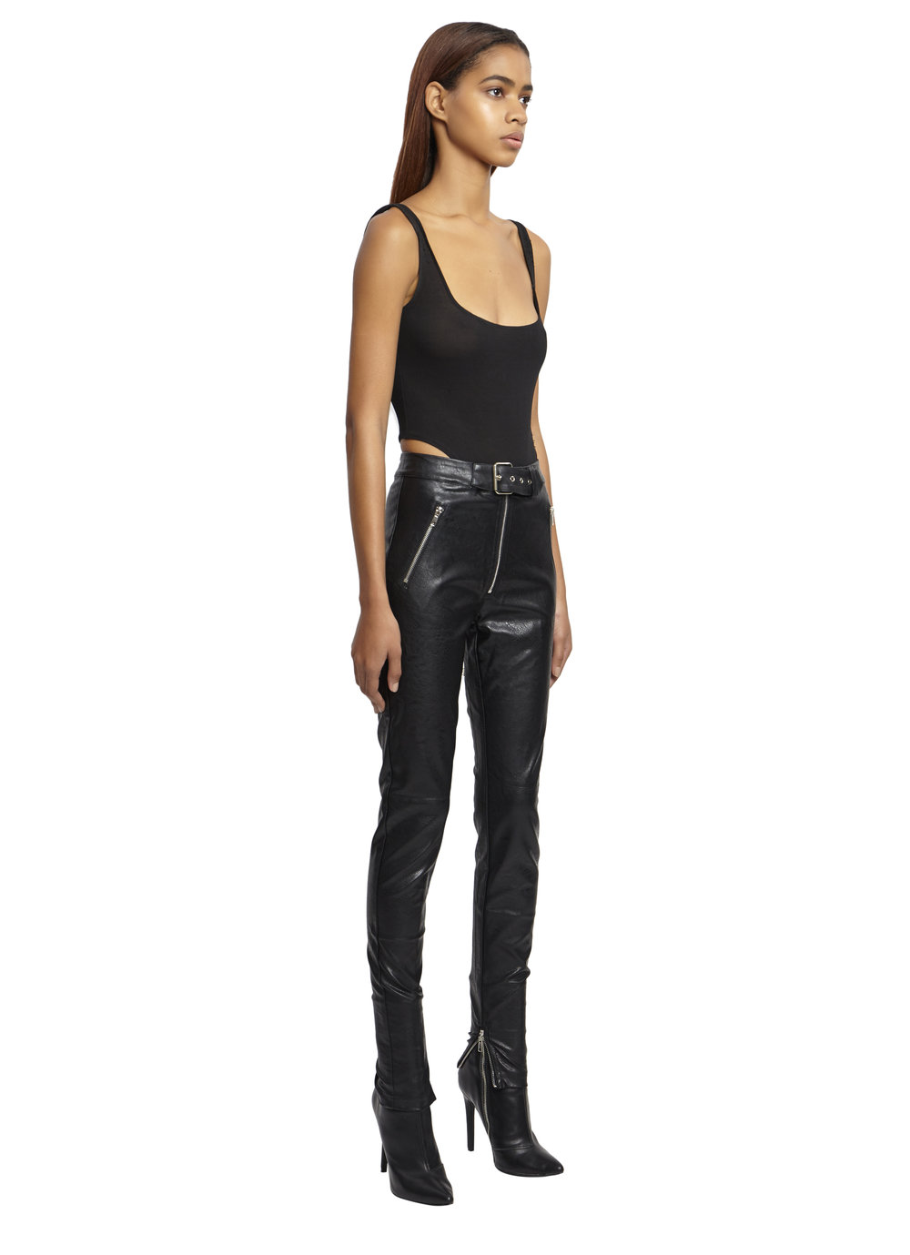 BELTED LEATHER PANTS by Danielle Guizio, available on danielleguiziony.com for $188 Kylie Jenner Pants Exact Product