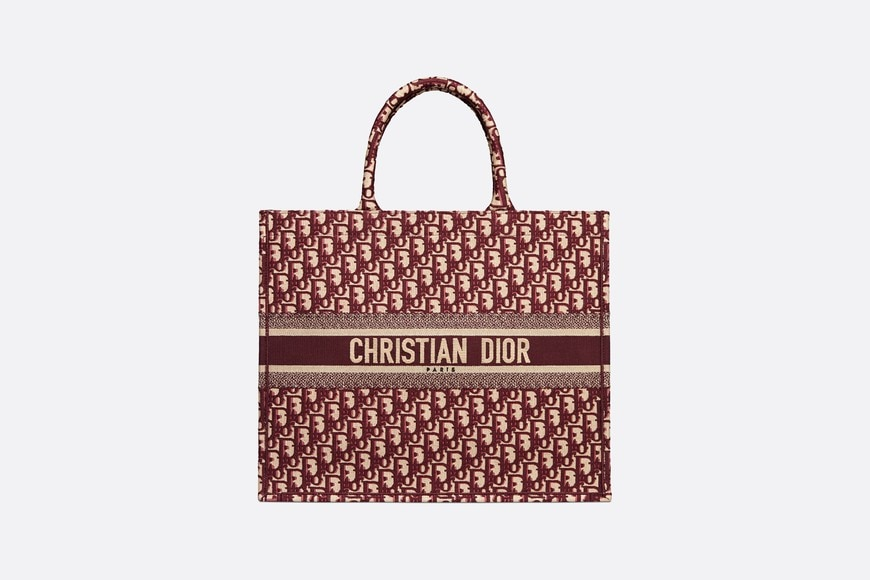 BURGUNDY DIOR OBLIQUE EMBROIDERED DIOR BOOK TOTE by Dior, available on dior.com for $2750 Kylie Jenner Top SIMILAR PRODUCT