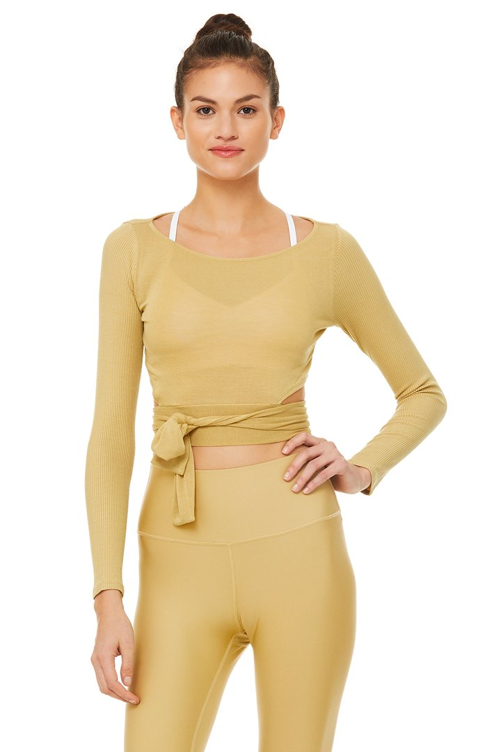 Barre Long Sleeve by Alo Yoga, available on aloyoga.com for $68 Kylie Jenner Outerwear SIMILAR PRODUCT