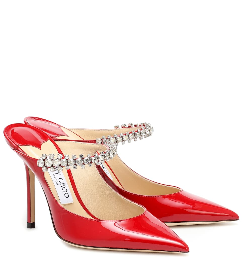 Bing 100 patent leather mules by JIMMY CHOO, available on mytheresa.com for $1091.57 Kylie Jenner Shoes Exact Product