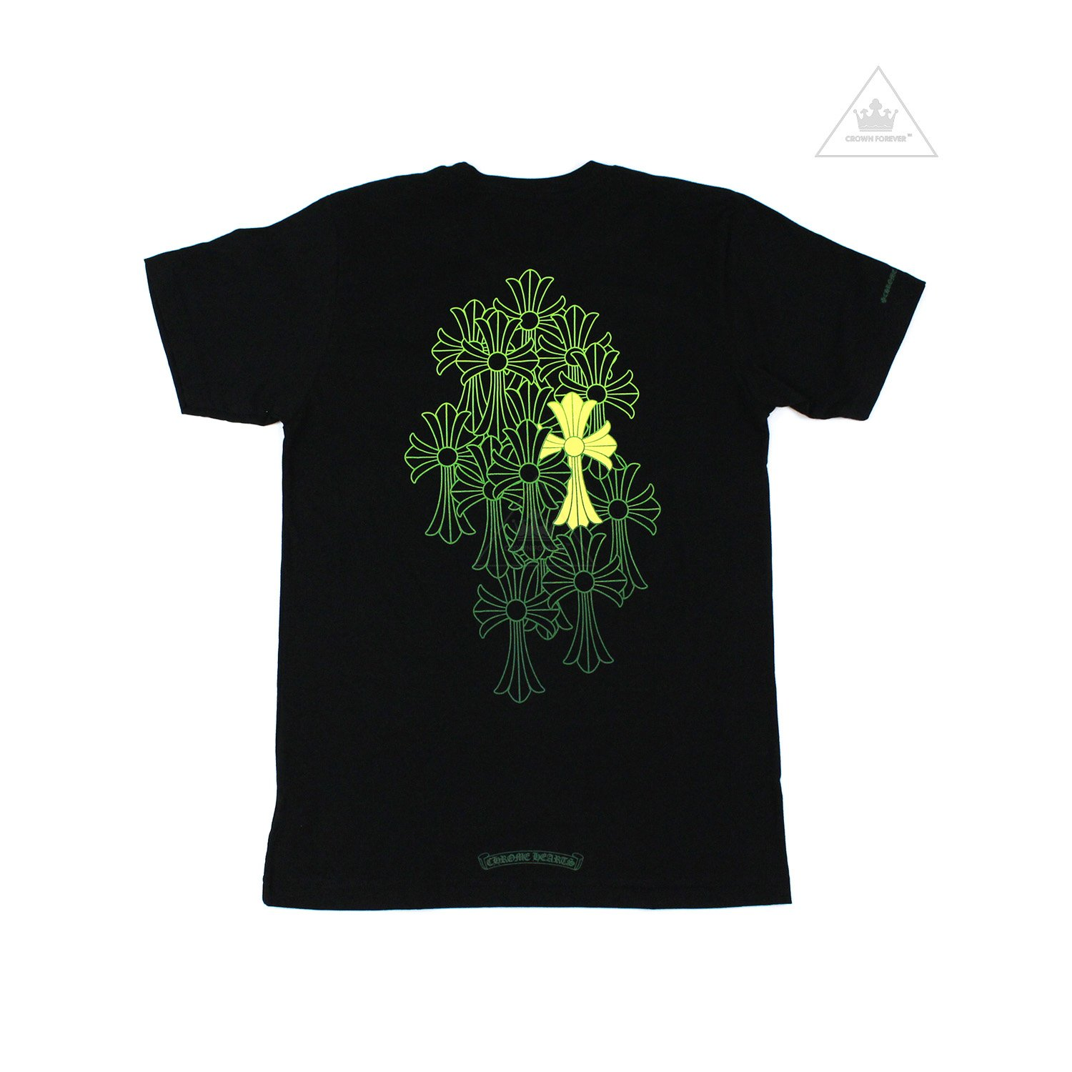 CH Green Cemetery Cross Short Sleeve T Shirt Black by CHROME HEARTS, available on crownforeverla.com for $275 Kylie Jenner Outerwear SIMILAR PRODUCT