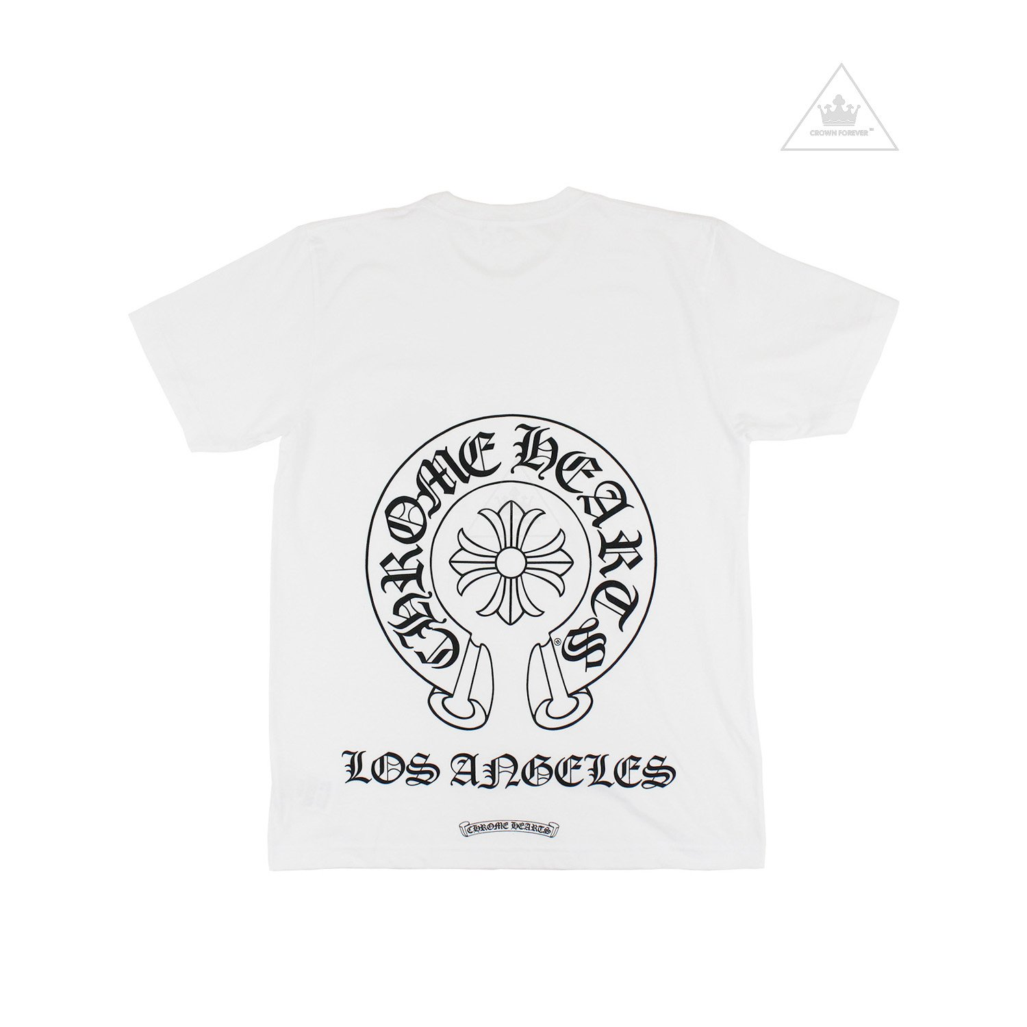 CH Horseshoe Los Angeles Short Sleeve T Shirt White by CHROME HEARTS, available on crownforeverla.com for $265 Kylie Jenner Outerwear SIMILAR PRODUCT