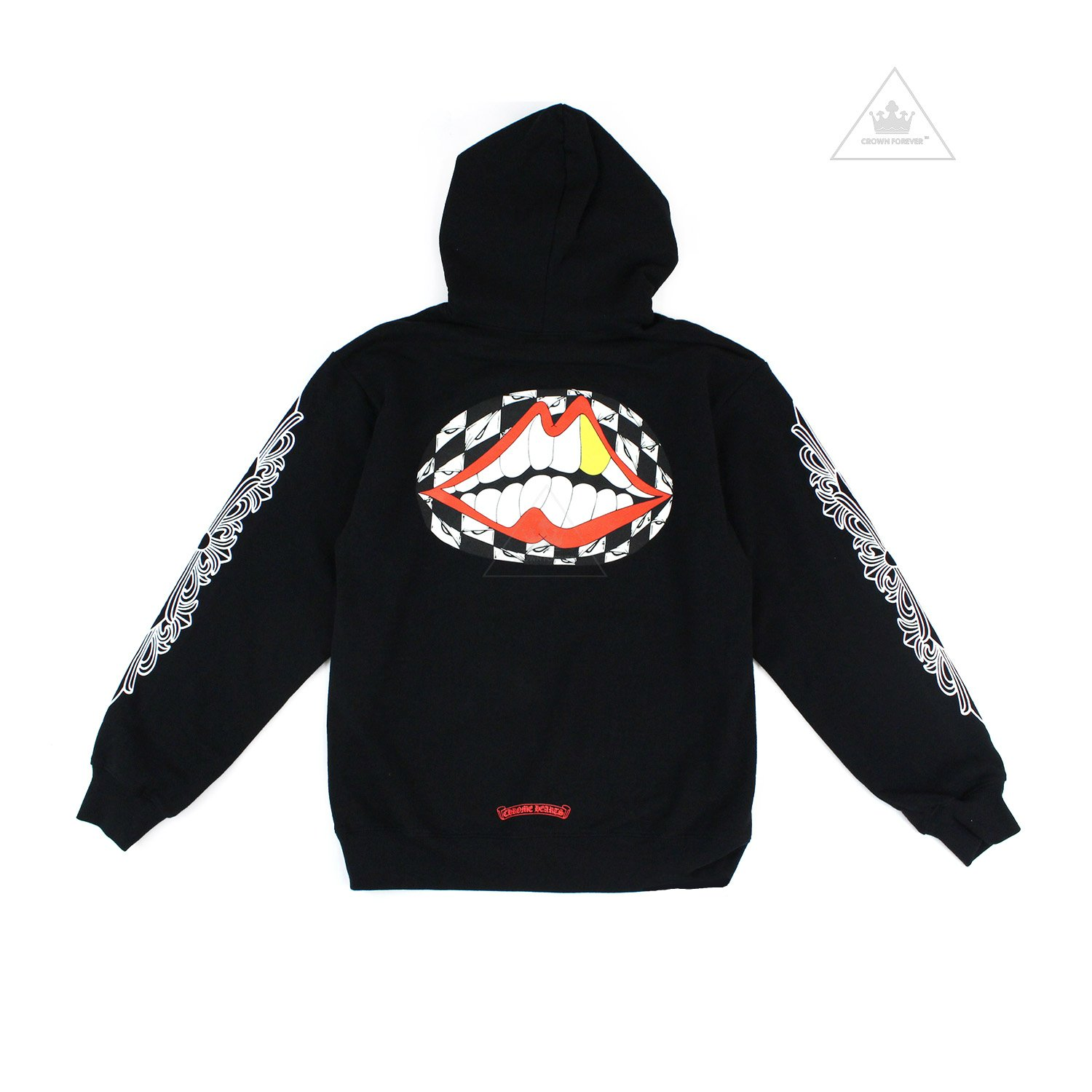 CH Matty Boy Pullover Floral Sleeve Hoodie (Glow in the Dark) by Chrome-Hearts, available on crownforeverla.com for $675 Kylie Jenner Outerwear Exact Product