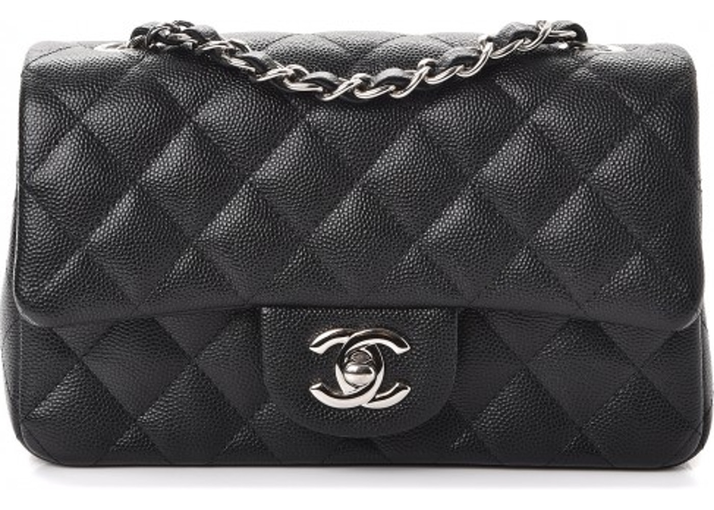 Chanel Rectangular Flap Quilted Diamond Mini Black/Burgundy by Chanel, available on stockx.com for $3975 Kylie Jenner Bags Exact Product
