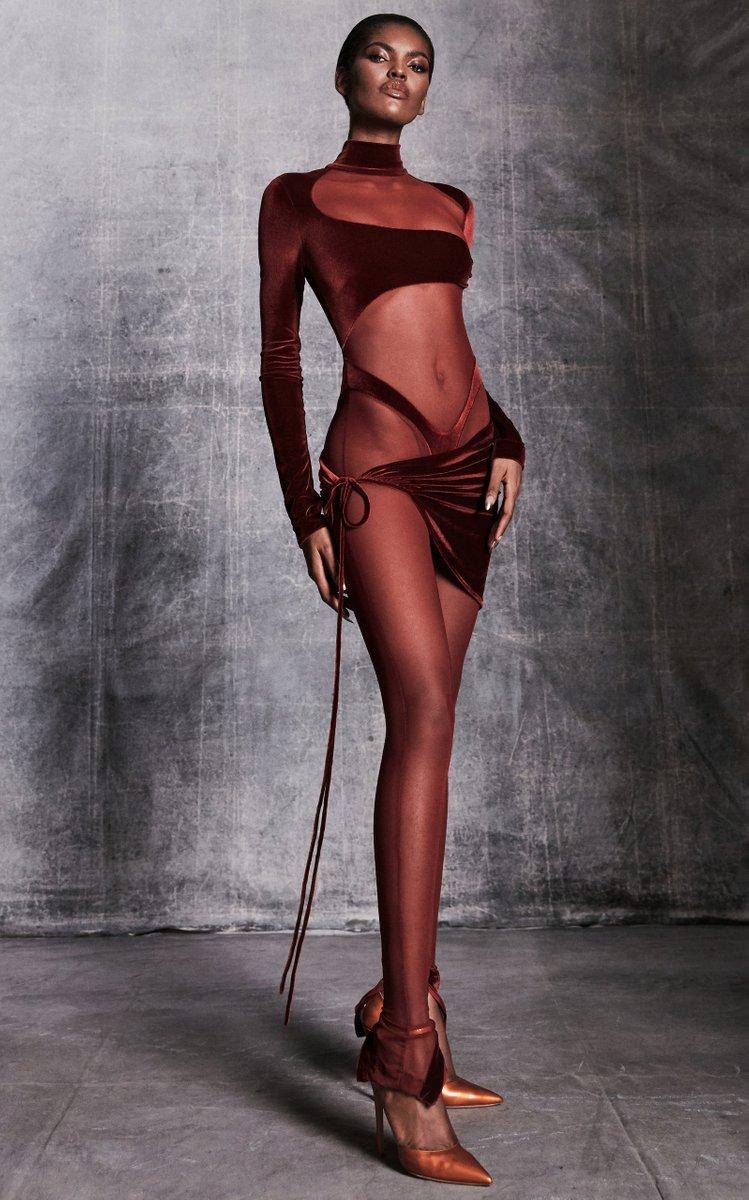 Cutout Velvet Bodysuit by LaQuan Smith, available on modaoperandi.com for $1095 Kylie Jenner Dress Exact Product