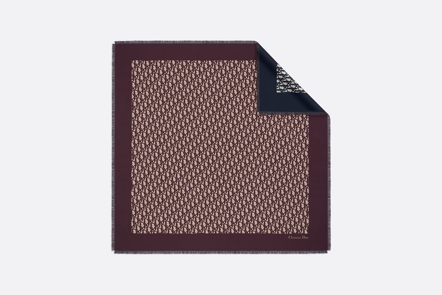 DIOR OBLIQUE BURGUNDY AND NAVY BLUE SQUARE SCARF by Dior, available on dior.com for $570 Kylie Jenner Top SIMILAR PRODUCT