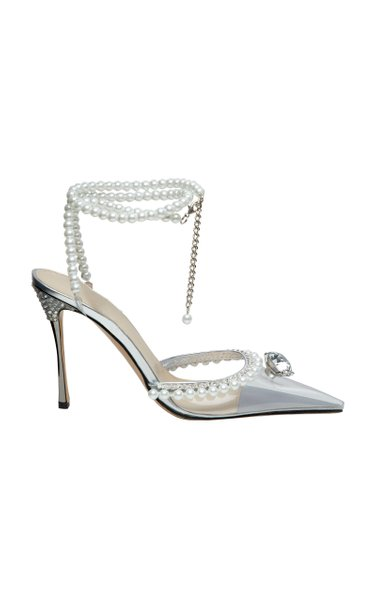 Diamond Of Elizabeth Embellished Leather Pumps by Mach & Mach, available on modaoperandi.com for $995 Kylie Jenner Shoes Exact Product