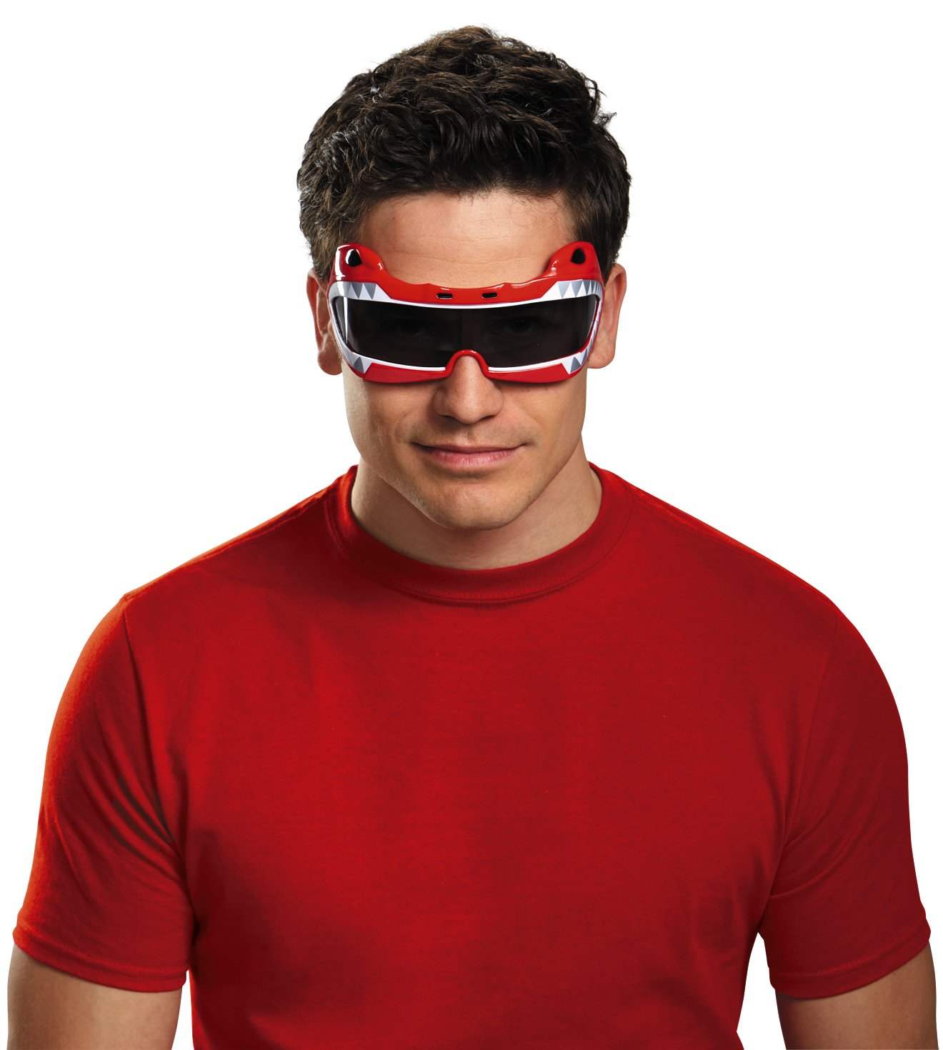 Disguise Men's Saban Mighty Morphin Red Ranger Costume Accessory Glasses by SABAN MIGHTY, available on amazon.com for $11.56 Kylie Jenner Sunglasses Exact Product