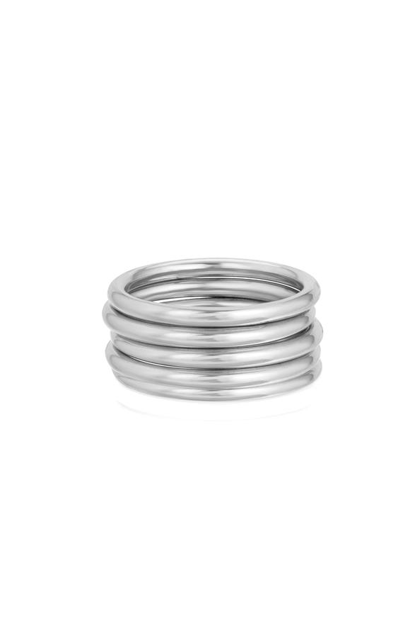 HEAVY STACKER RING, SILVER by Lili Claspe, available on liliclaspe.com for $25 Kylie Jenner Jewellery Exact Product