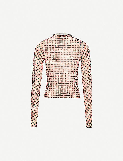 Halycon checked stretch-woven top by CHARLOTTE KNOWLES, available on selfridges.com for £325 Kylie Jenner Top SIMILAR PRODUCT