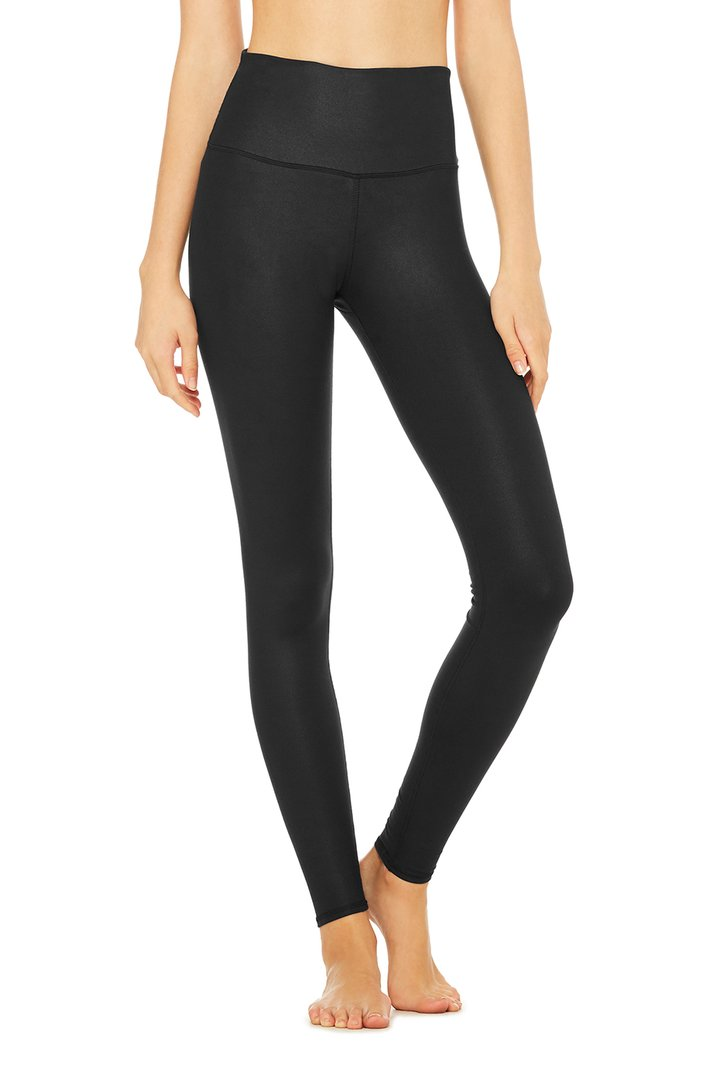 High-Waist Airlift Legging - Black by Alo Yoga, available on aloyoga.com for $118 Kylie Jenner Pants SIMILAR PRODUCT