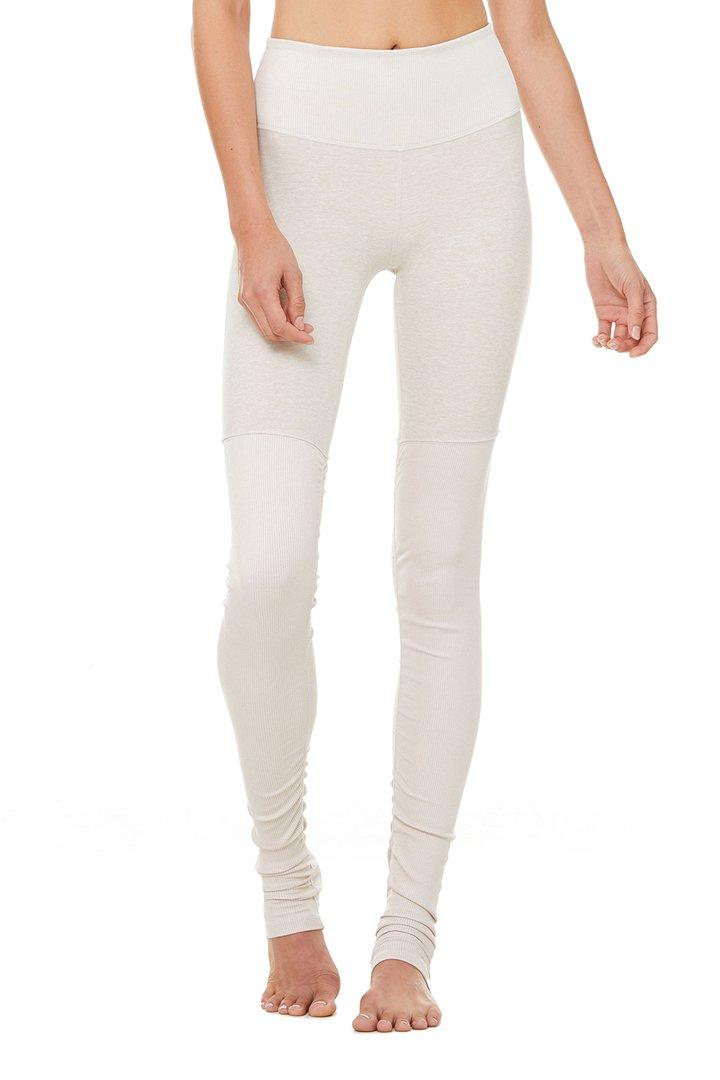 High-Waist Alosoft Goddess Legging - Bone Heather by Alo Yoga, available on aloyoga.com for $102 Kylie Jenner Pants SIMILAR PRODUCT