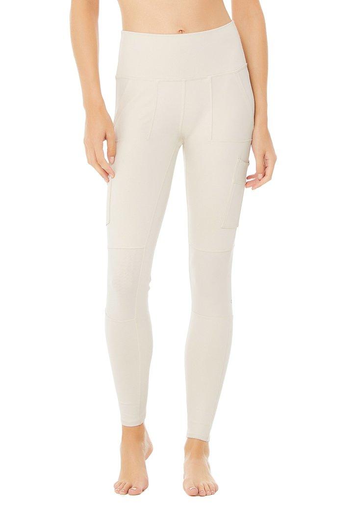 High-Waist Cargo Legging - Bone by Alo Yoga, available on aloyoga.com for $138 Kylie Jenner Pants SIMILAR PRODUCT
