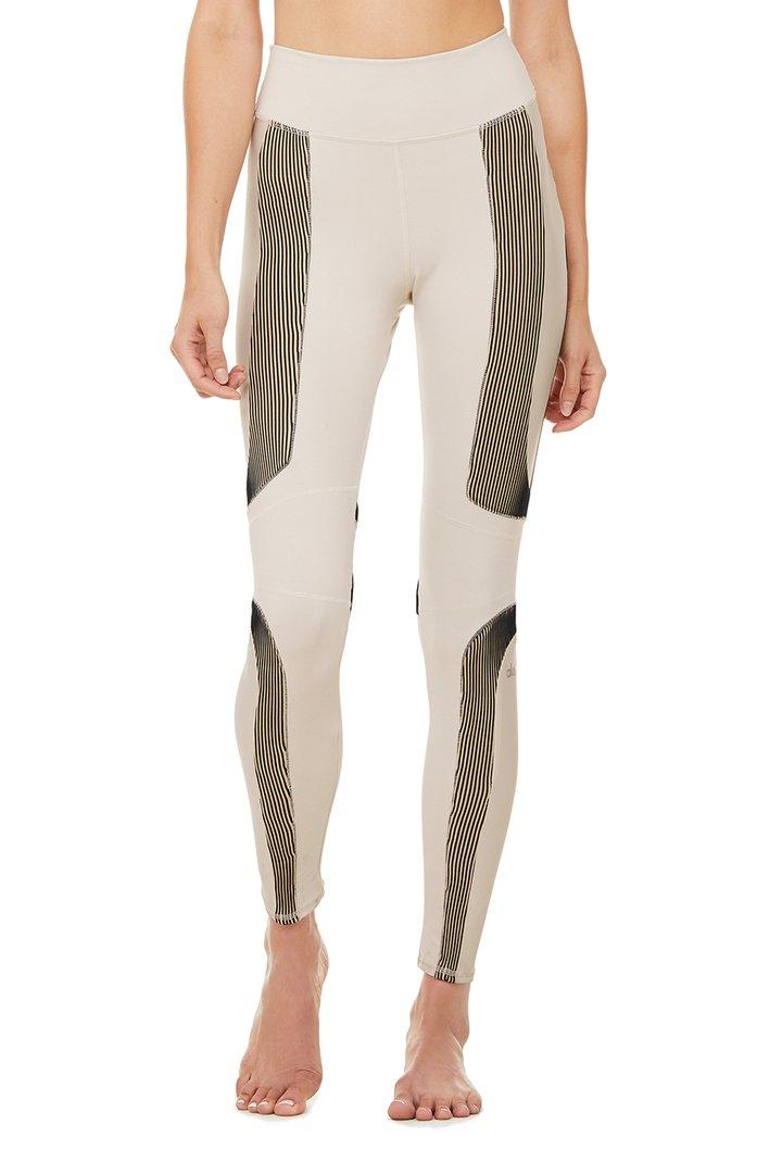 High-Waist Electric Legging - Bone by Alo Yoga, available on aloyoga.com for $138 Kylie Jenner Pants SIMILAR PRODUCT