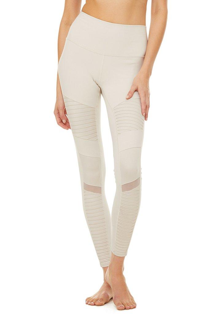 High-Waist Moto Legging - Bone by Alo Yoga, available on aloyoga.com for $114 Kylie Jenner Pants SIMILAR PRODUCT