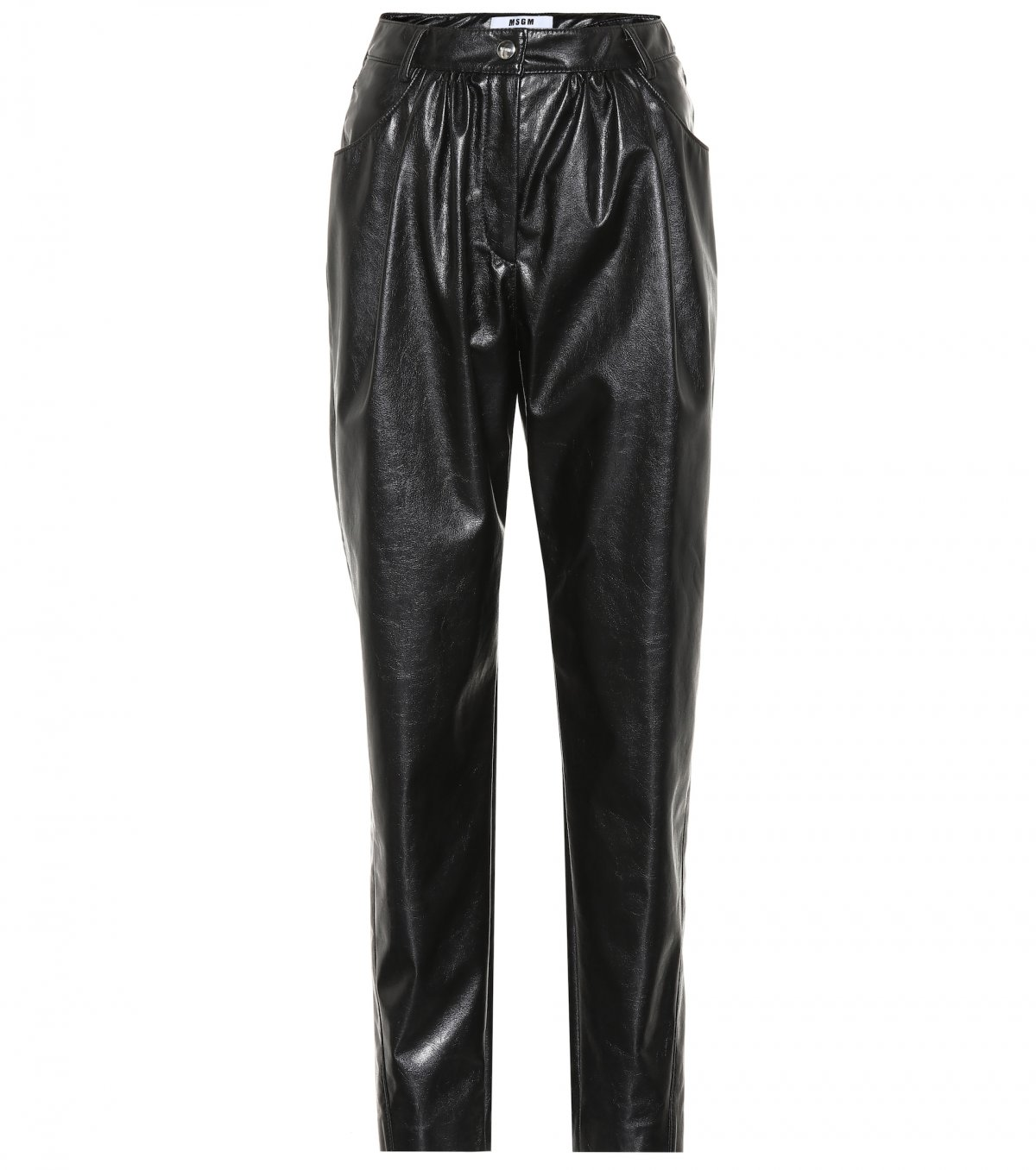 High-rise faux leather pants by MSGM, available on mytheresa.com for EUR245 Kylie Jenner Pants Exact Product