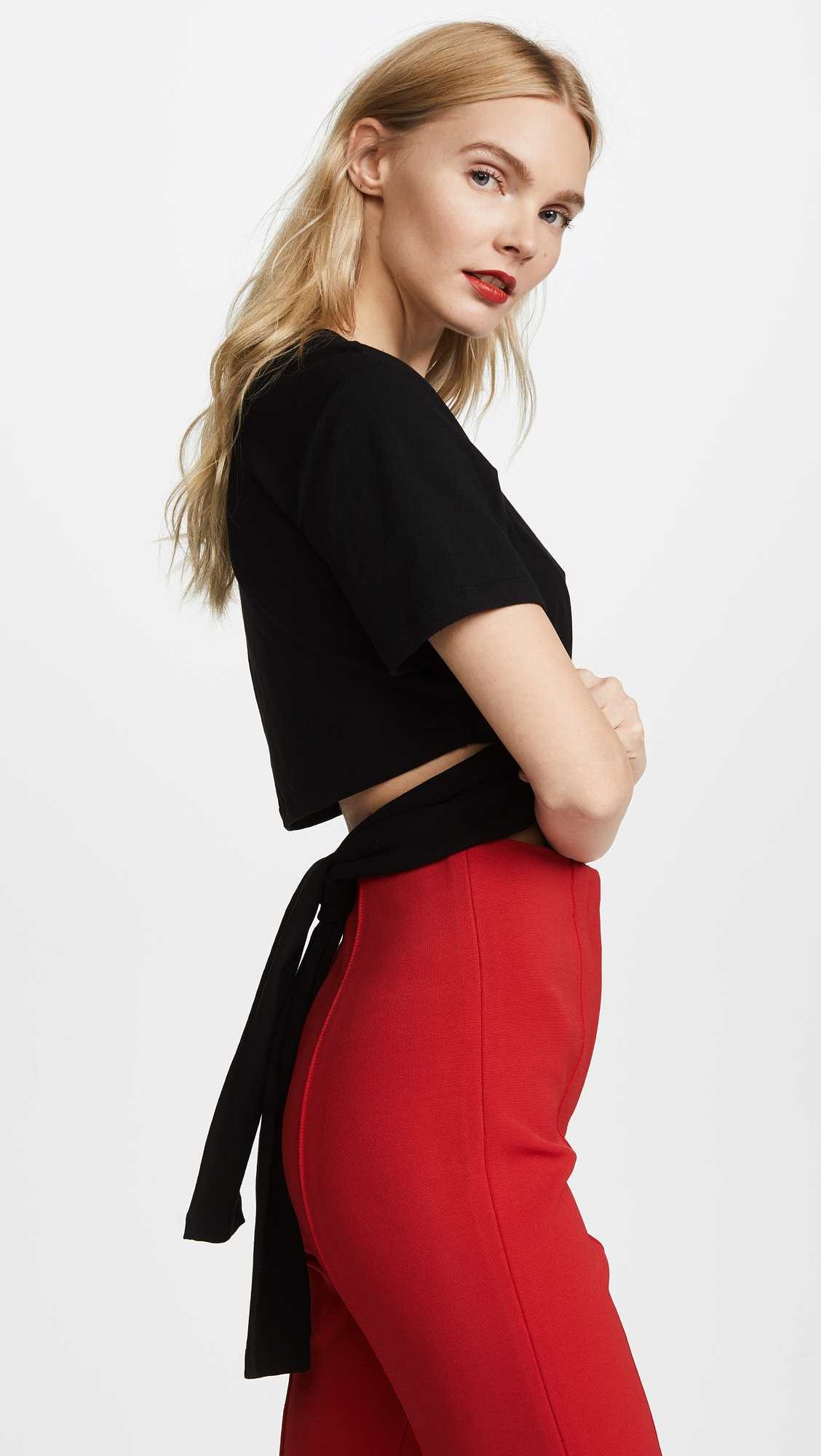 High Twist Crop Tee by Alexander Wang, available on shopbop.com for $175 Kylie Jenner Top Exact Product