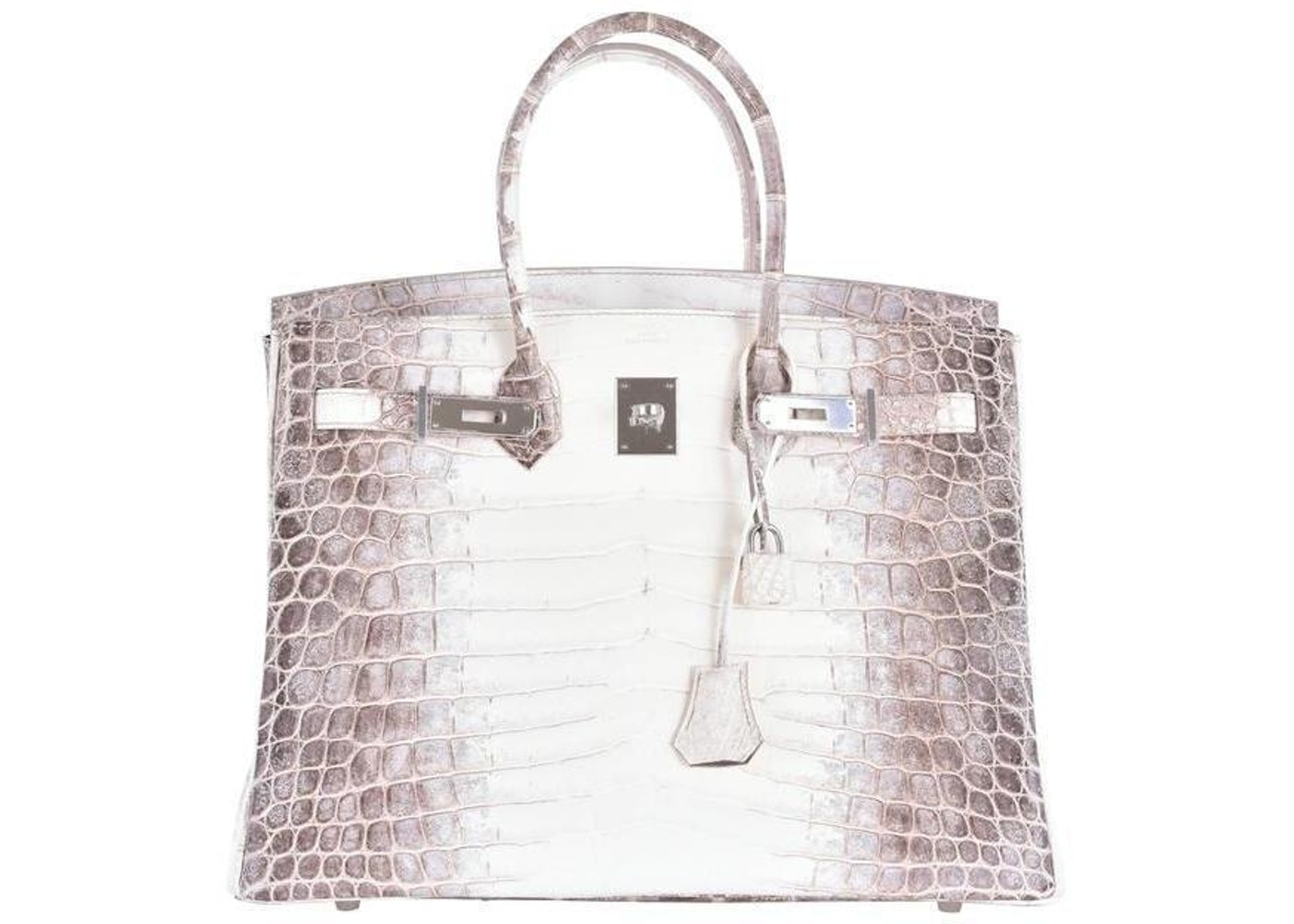 Himalayan Niloticus Crocodile Matte 35 White, Brown by Hermes, available on stockx.com for $2300 Kylie Jenner Bags Exact Product