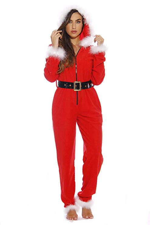 Holiday Sexy Santa Adult Onesie Pajamas by Just Love, available on amazon.com for $39.99 Kylie Jenner Dress Exact Product