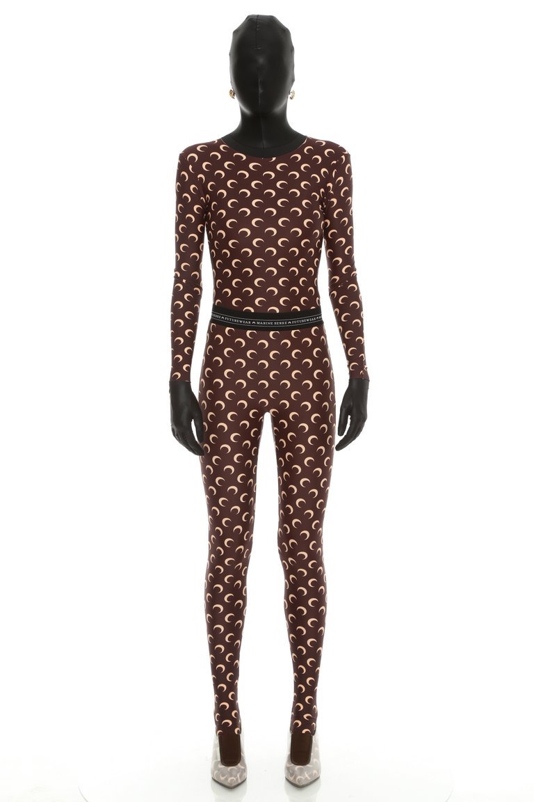 Jersey Leggings Tan/Brown by Marine Serre, available on marineserre.com Kylie Jenner Pants SIMILAR PRODUCT