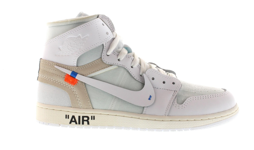 Jordan 1 Retro High Off-White White by Jordan, available on stockx.com for $2306 Kylie Jenner Shoes Exact Product