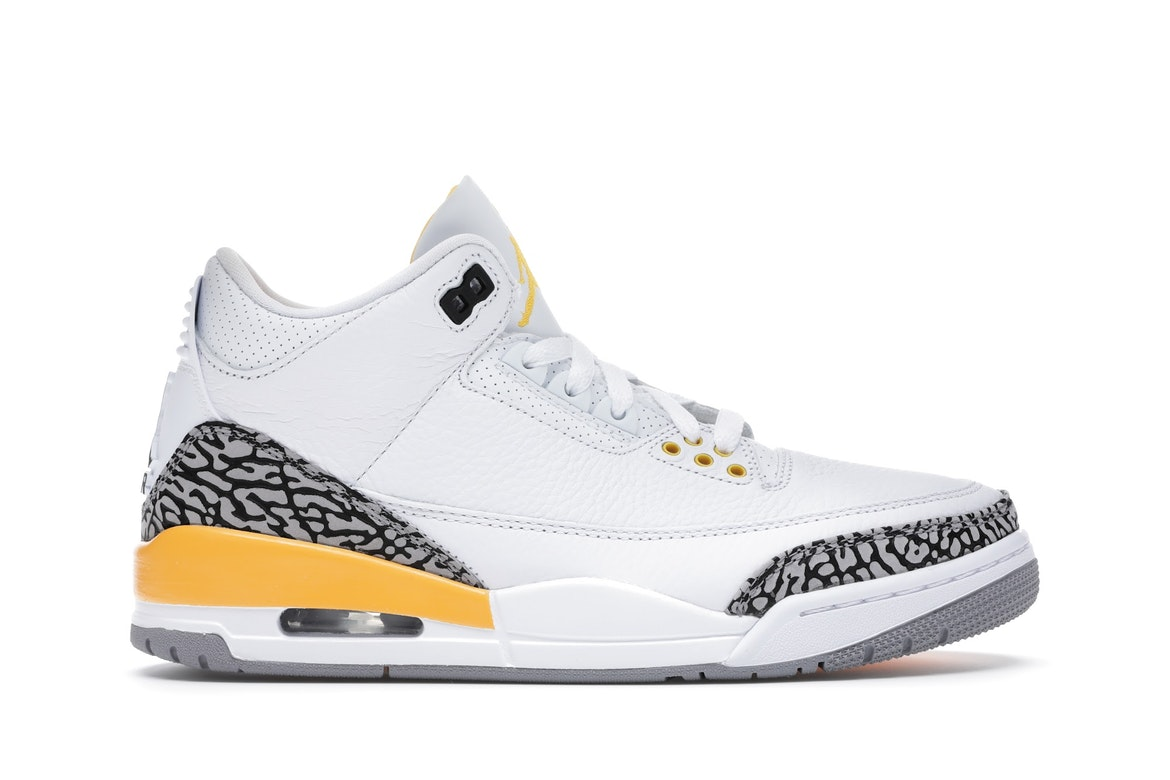 Jordan 3 Retro Laser Orange (W) by Jordan, available on stockx.com for $223 Kylie Jenner Shoes Exact Product