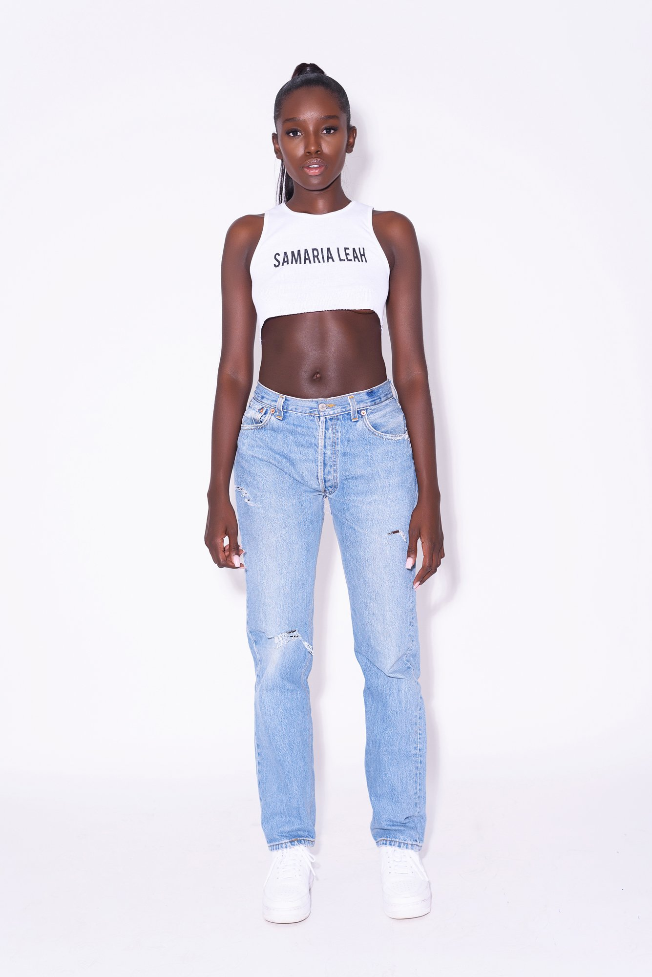 LEAH (BONE) by Levi's, available on samarialeah.com for $225 Kylie Jenner Pants Exact Product