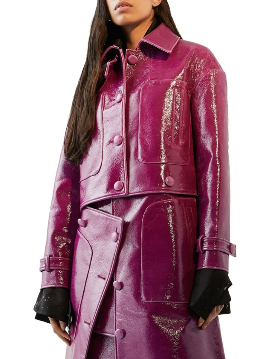 Laminated Convertible Coat by Sid Neigum, available on yorkdale.com for $1049.99 Kylie Jenner Outerwear Exact Product