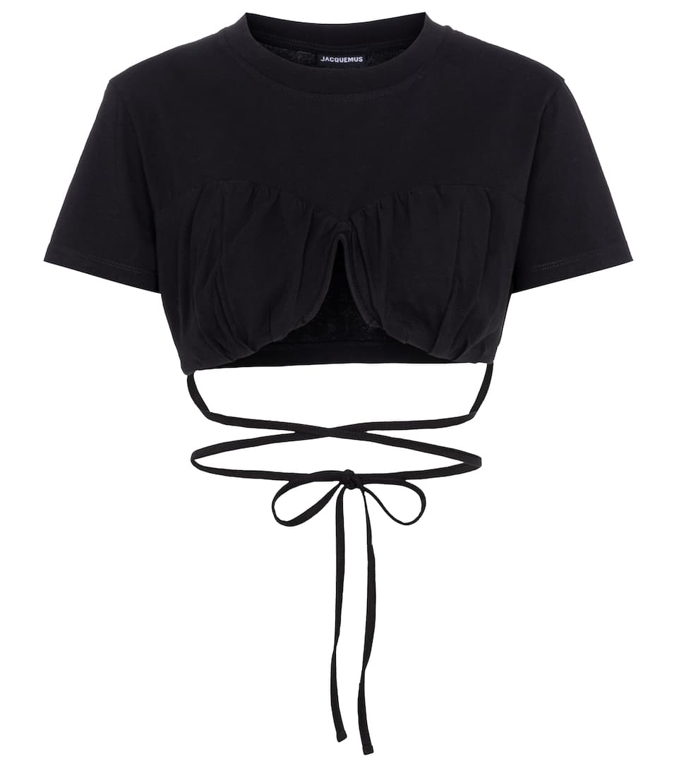 Le T-shirt Baci cotton jersey top by JACQUEMUS, available on mytheresa.com for EUR165 Kylie Jenner Top Exact Product