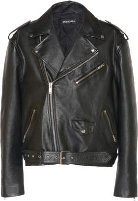 Leather Biker Jacket by Balenciaga, available on shopstyle.com for $4900 Kylie Jenner Outerwear SIMILAR PRODUCT