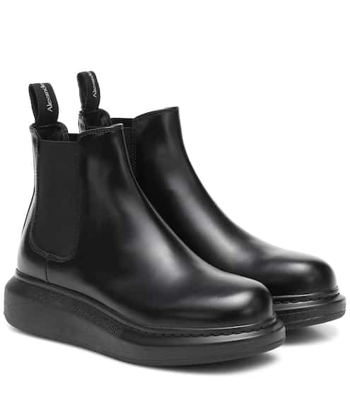 Leather Chelsea boots by Alexander McQueen, available on mytheresa.com for $390 Kylie Jenner Shoes SIMILAR PRODUCT