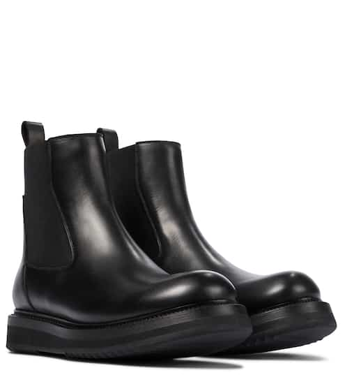 Leather Chelsea boots by Rick Owens, available on mytheresa.com for $905 Kylie Jenner Shoes SIMILAR PRODUCT