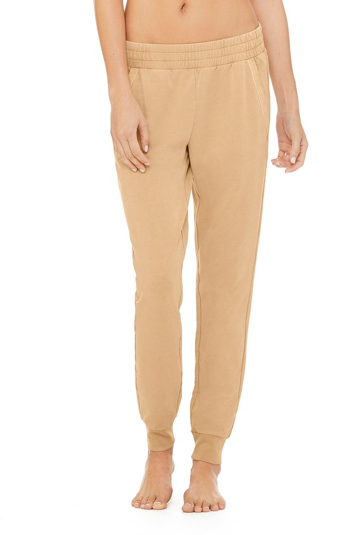 Limited-Edition Exclusive Washed Unwind Sweatpant - Dune Wash by Alo Yoga, available on aloyoga.com for $108 Kylie Jenner Pants SIMILAR PRODUCT