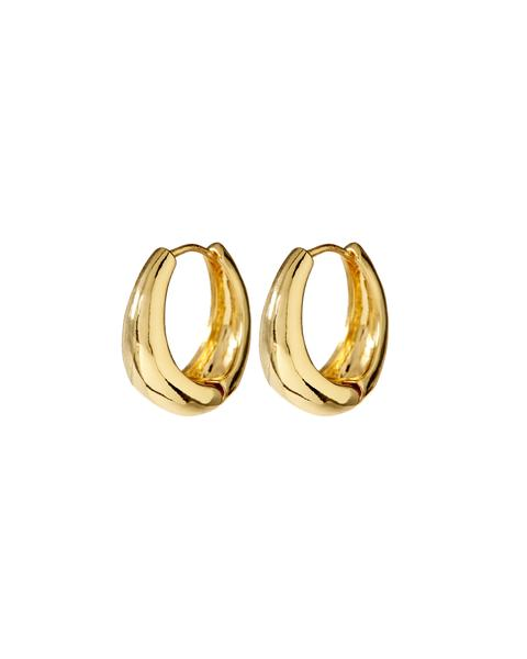 MARBELLA HOOPS- GOLD by Luv Aj, available on luvaj.com for $55 Kylie Jenner Jewellery Exact Product