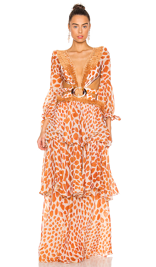 Margot Fringe Trim Maxi Dress by PatBO, available on revolve.com for $895 Kylie Jenner Dress SIMILAR PRODUCT